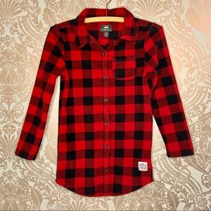 Roots Kids Button Down Flannel Long Sleeve Top